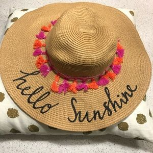 Hello sunshine beach hat.